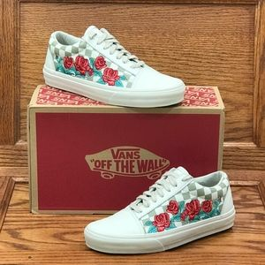 Vans Old Skool DX Rose Embroidery Marshmallow